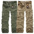 Fashion Military Cargo Pants Men Loose Baggy Tactical Trousers Casual Cotton Cargo Pants Men Multi Pockets Big size