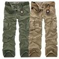 Fashion Military Cargo Pants Men Loose Baggy Tactical Trousers Casual Cotton Cargo Pants Men Multi Pockets Big size