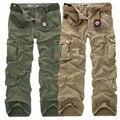 Moda de Los Hombres Sueltan Los Pantalones Holgados de Carga Militar Táctico Pantalones Casuales de Algodón Pantalones Cargo Hombres de Múltiples Bolsillos de Gran tamaño