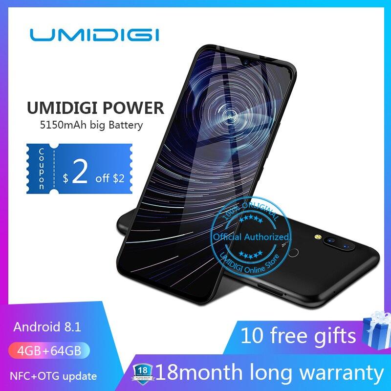 "Umidigi power 6.3 ""4 GB 64 ROM Mobiele telefoon Octa Core Android 9.0 16MP + 16MP Mobiele telefoon NFC 4g 5150mAh unlocked smartphone gsm-in Mobiele Telefoons van Mobiele telefoons & telecommunicatie op AliExpress - 11.11_Dubbel 11Vrijgezellendag 1"