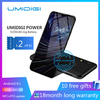 Umidigi power 6.3 4GB 64 ROM Mobile phone Octa Core Android 9.0 16MP+16MP Cell phone NFC 4g 5150mAh unlocked smartphone gsm