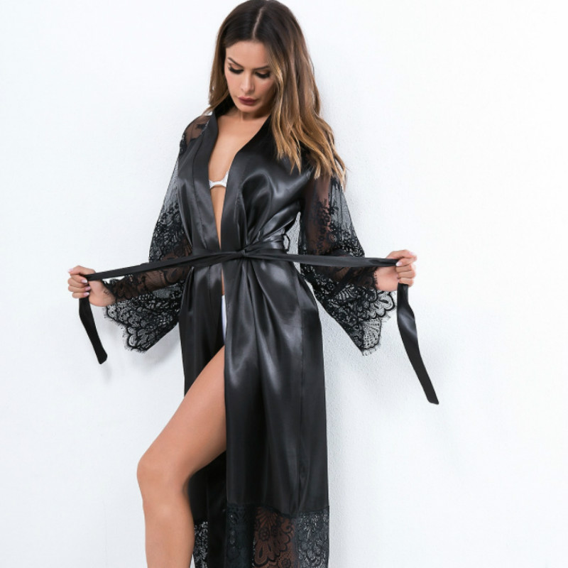 Sexy Nightwear Lace Sleepwear Women'S Night Dress  Women  Pyjamas Summer Negligee Babydoll Sexy Lingerie Bathrobe Home Clothes