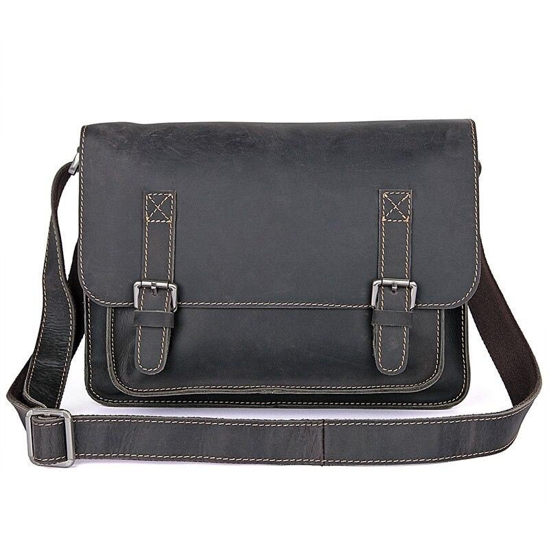 Август Пояса из натуральной кожи Для мужчин Модная Сумка Crossbody сумка темно серая Сумочка Для мужчин небольшая сумка 7089j 1