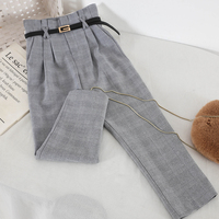 2019 new fashion women's pants Slim thin elegant classic retro high waist pants 3167