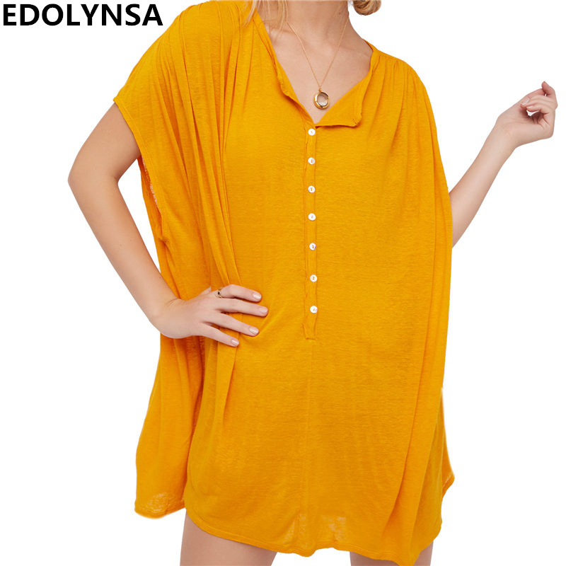 2018 Beach Cover up Rayon Swimwear Tunics For Beach Dress ...