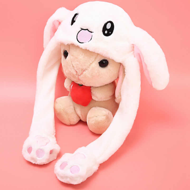 Kawaii Rabbit Hat with Moving Ears Cute Cartoon Toy Hat