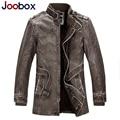 JOOBOX 2017 мужской кожаные куртки, панк кожаная куртка мужчины, ПУ байкер куртки, бомбардировщик куртки плюс размер M-4XL (JOB-007LK)