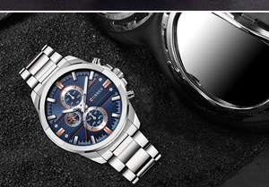 Image 4 - CURREN Luxury Casual Men Watches Military Quartz Male Wristwatch Stainless Steel Waterproof Relogio Masculino Montre Homme