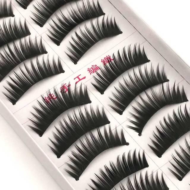 New 5 styles 10 pairs false eyelashes makeup beauty eyelash extension natural fake eyelashes for maquiagem makeup thick cilios 3