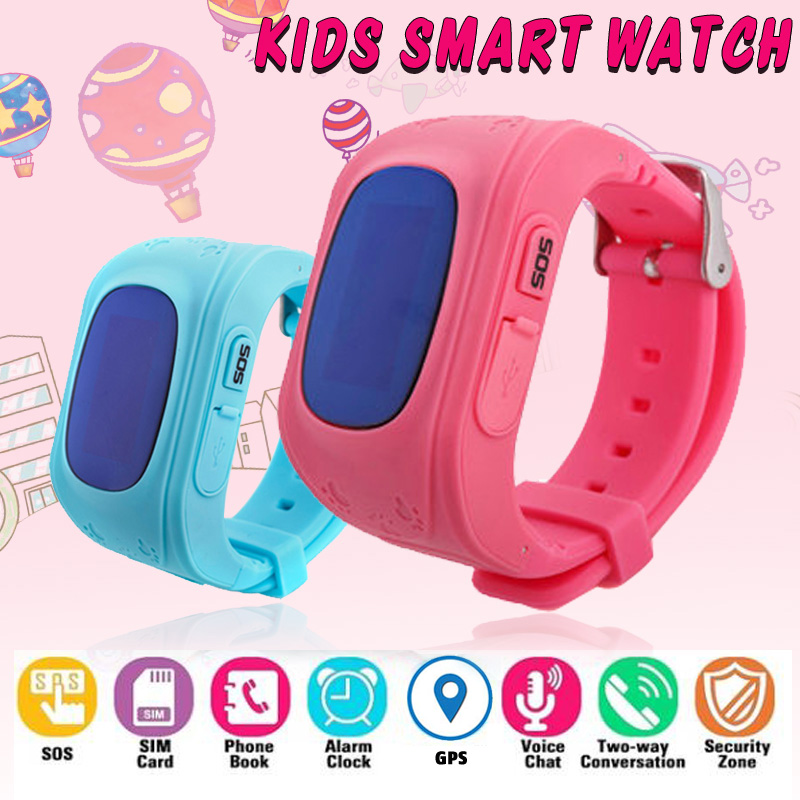<font><b>Q50</b></font> Anti Lost OLED Child <font><b>GPS</b></font> Tracker SOS Smart Monitoring Positioning Watch Phone Kids <font><b>GPS</b></font> Baby Watch Compatible IOS & Android image