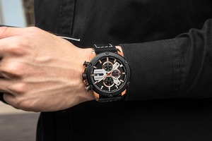 Image 5 - Watch Men Sports Chronograph Quartz Wrist Watches Hot Fashion Brand CURREN Leather Relog Hombre Water Resistence With Calendar
