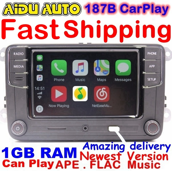 RCD330 Plus RCD330G Carplay MIB Radio For VW Golf 5 6 Jetta MK5 MK6 CC Tiguan Passat B6 B7 Polo 6RD035187B Mirrorlink RCD510 210 rcd330 rcd330g plus 6 5 mib radio rcd510 rcn210 stereo for vw golf 5 6 jetta mk5 mk6 cc tiguan passat b6 b7 polo touran 187a