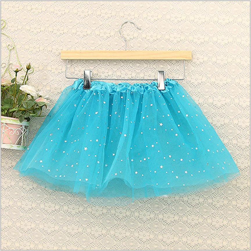 Fashion Baby Kids Girls Princess Stars Sequins Party Dance Ballet Tutu Skirts