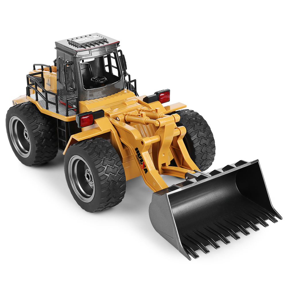 New HUINA 1520 RC Car 1:18 2.4GHz 6CH Remote Controll Alloy Truck Construction Vehicle For Boys Kids Christmas Birthday Gifts