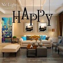Фотография Creative Alphabet Pendant Lights Industrial Iron Lamp 26-Letters Free Selection Loft Lustre Hanging Kitchen Lighting Luminarie