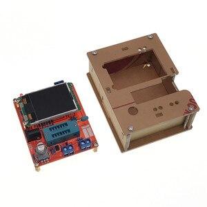 LCD GM328A Kits DIY Diodo Transistor Testador Capacitância ESR Medidor de Freqüência do pulso de Onda Quadrada Gerador de Sinal de Tensão De Solda SMT