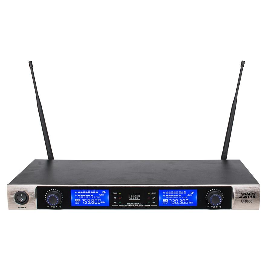 Sistema inalámbrico de micrófono inalámbrico UHF Karaoke Dinámico - Audio y video portátil - foto 5