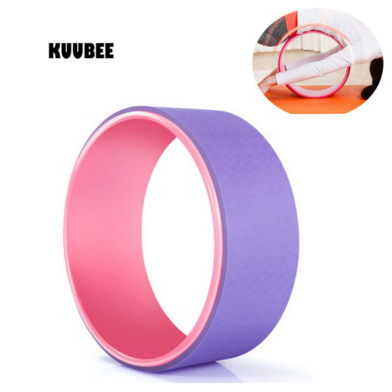 KUUBEE Yoga Wheel Pilates Magic Circle Yoga Ring Slimming Fitness  Waist Shape Bodybuilding circle