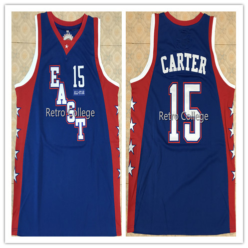 15 Vince Carter 2004 All Star East Basketball Jersey broderie surpiqué personnaliser n'importe quel nom et numéro