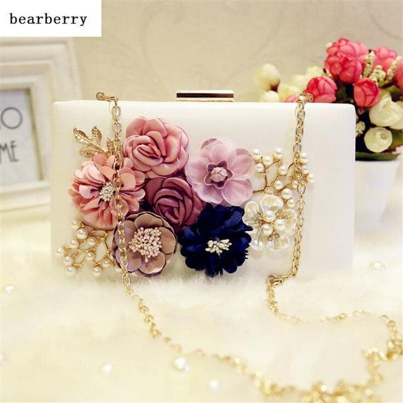 Bearberry 2017 bolsas mujeres de la marca de alta calidad hecha a mano de la flo