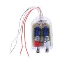 1 шт. 12 в RCA автомобильный стерео радио конвертер динамик высокой и низкой усилитель аудио сопротивление конвертер