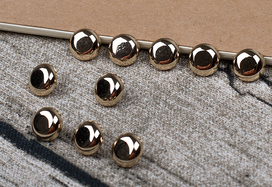 The High-grade 8 Mm Electroplating Metal Button Button Pearl Chiffon Cardigan Shirt Brand Decorative Buttons 100% Guarantee