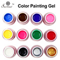 Saviland 1pcs Gel Nail Paint Polish 12 Color Glitter Professional UV Gel Kit Drawing Paints Nails Manicure Tools Sets
