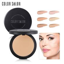 Color Salon Super Flawless Foundation Makeup Face Strong Concealer Base Contour Cream 11g Full Coverage Make Up Natural Cosmetic