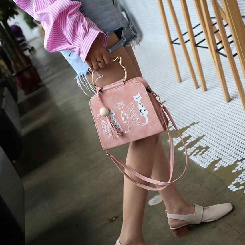 Moda animal mensageiro bolsa feminina bolsas gato coelho padrão ombro crossbody saco designer bolsas n21