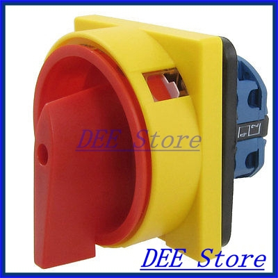 440VAC 240VAC 4 Screw Terminals ON/OFF Rotary Combination Switch Dwfpg ith 20a 8 screw terminals rotary combination cam switch