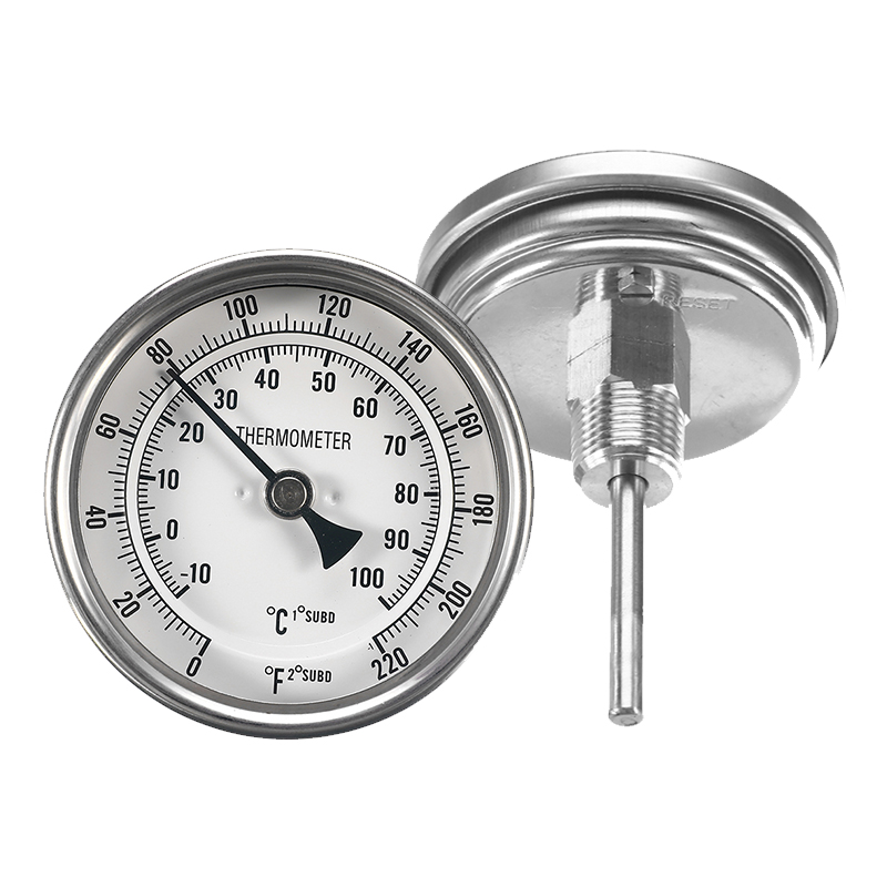 Metal Bar Beer Brewing Thermometer 3'' 0~220F Degree Dual Scale Thermometer Kit 12 NPT Homebrew Kettle Barware Tools Accessory