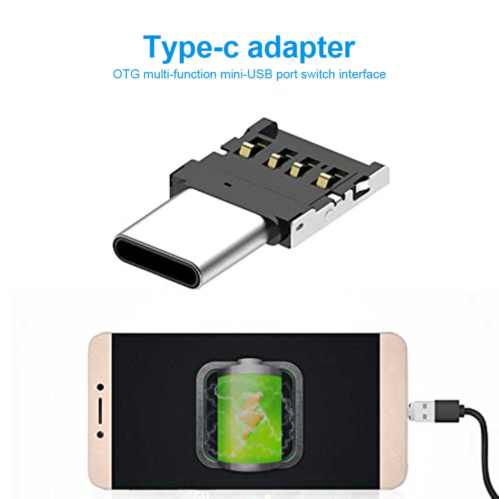 Mini Type C to USB OTG Connector Adapter for USB Flash Drive S8 Note8 Android Phone