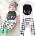 Cute Newborn Baby Boys Short sleeve T-shirt Pants Outfits Clothes Set Baby Boys Clothes Set Boys Clothing Set