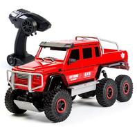 RC Truck Off Road Monster Truck Pickup Remote Control Vehicle Rock Crawler Transporter 6WD 2.4G Electronic Toys For Kids Gift