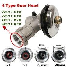 26mm/28mm tondeuse boîte de vitesses motoréducteur débroussailleuse coupe gazon remplacer tête d'engrenage tondeuse à gazon pièces outil de jardinage 7 9 dents