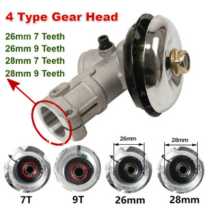 Image 1 - 26mm/28mm Trimmer Gearbox Gearhead Brushcutter Grass Trimmer Replace Gear Head Lawn Mower Parts Gardening Tool 7 9 Teeth