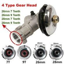 26mm/28mm trimmer gearhead brushcutter grama trimmer substituir engrenagem cabeça cortador de grama peças ferramenta jardinagem 7 9 dentes