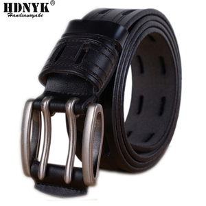 Image 2 - 100% High Quality Genuine Leather Belts for Men Brand Strap Male Pin Buckle Fancy Vintage Jeans Cowboy Cintos