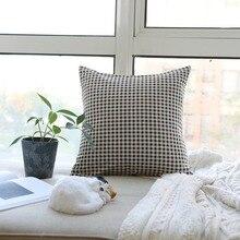 Decorative Pillowcases Geometric Modern Lattice Print Throw Pillow Cover Cojines Cushion Sofa Livingroom Home Deco poszew