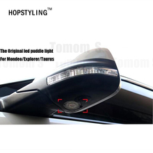 Hopstyling New Car styling 2 pcs LED Side Under Mirror projector logo light For Explorer Mondeo Taurus auto accessory lamp ghost