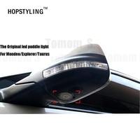 Hopstyling Nieuwe Auto styling 2 stks LED Side Onder Spiegel projector logo licht Voor Explorer Mondeo Taurus auto accessoire lamp ghost
