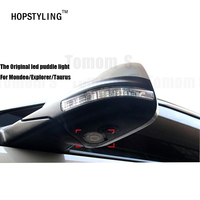 New Car Styling 2 Pcs LED Side Under Mirror Projector Logo Light For Ford Edge Explorer