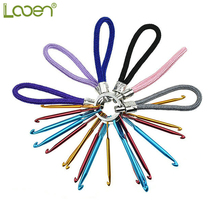 3 Size/set Looen 3.0/4.0/5.0MM Keyhole Crochet Hooks Handmade Woolen Short Aluminum Metal Keychain