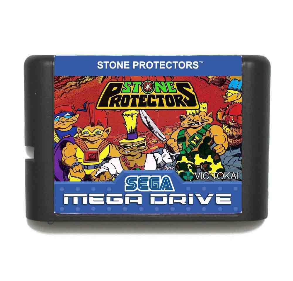 Stone Protectors 16 bit MD Game Card With Retail Box For Sega Mega Drive/ Genesis