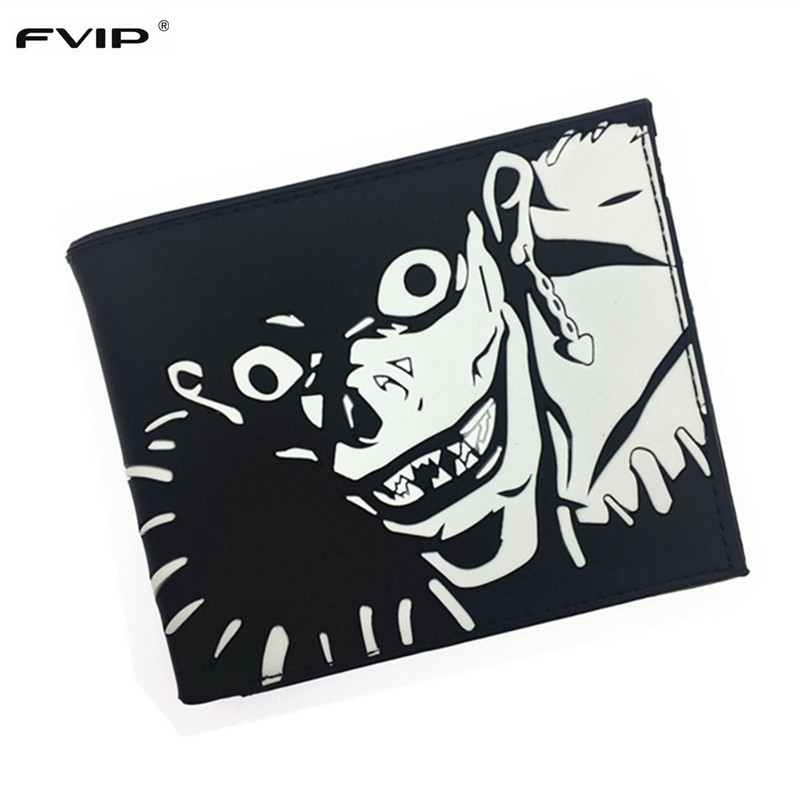 FVIP Anime Cartoon Wallet Death Note Thunder Cats Walking Dead Gears of War Silica Gel Wallet 2017 New Free Shipping майка классическая printio gears of war 2
