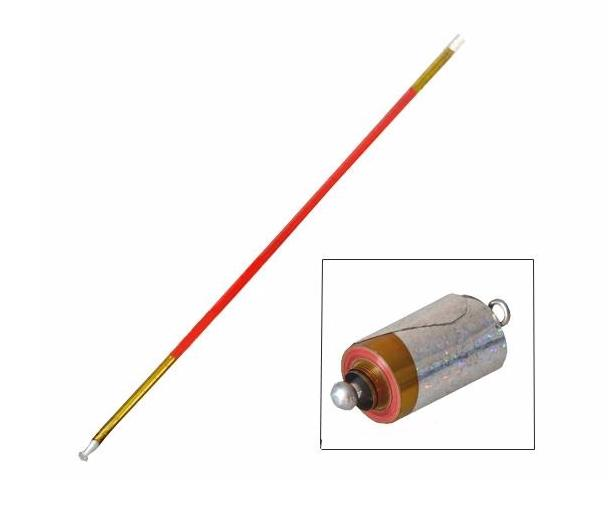 55 Golden Red Metal Appearing Cane Magic Wand For Professional Magician Stage Close up Magic Trick