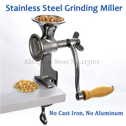 Fresh Ground Coffee Grinding Miller Stainless Steel Flour Mill Pulverizer for Wheat Corn Flour Peanut Soybean Walnut