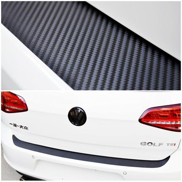Rear bumper protection carbon fiber sticker for volkswagen vw mk7 golf mk 7 golf gti