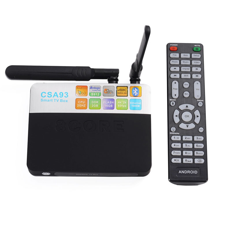 New TV BOX 8 Core Double WIFI LCD Screen TV Player Android Antenna Set-top Box new tv engf9304gf engf9304