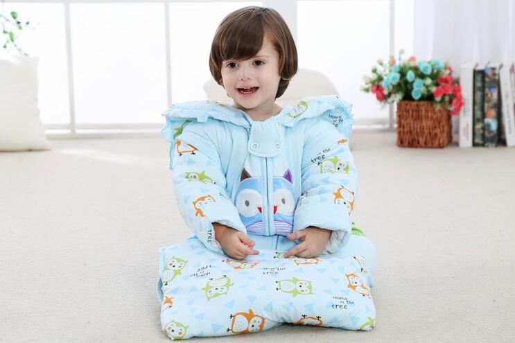 99d65bb054 baby bedding Baby sleeping bags Kids sleeping sack infant Toddler winter  sleeping bag Cute cartoon Owl sleep Wraps 0-3 year